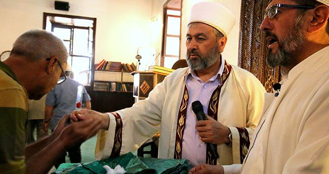 Seydişehir'de Sakal-ı Şerif arife günü erkeklerin ziyaretine açıldı