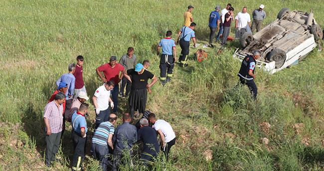 Karaman'da otomobil devrildi: 1 ölü, 5 yaralı