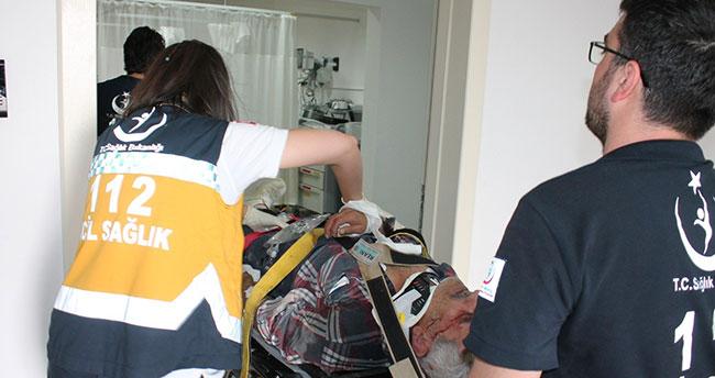 Aksaray'da 5. kattan düşen işçi ağır yaralandı