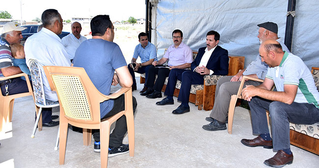 Hasan Kılca'dan mahalle ziyaretleri