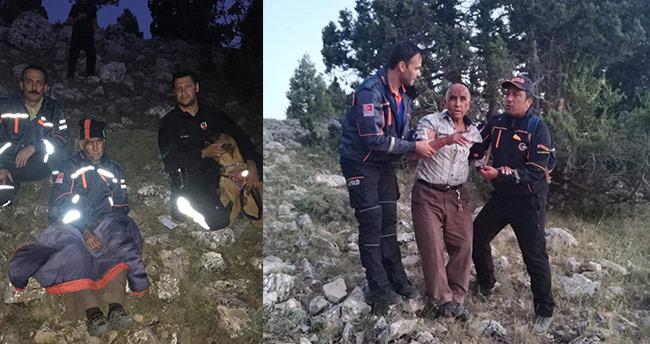 AFAD, kayıp yaşlı adamı dağlık arazide buldu