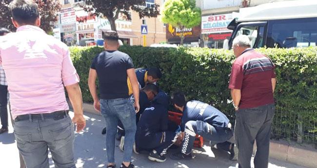 Karaman'da elektrikli bisikletten düşen bir kişi yaralandı