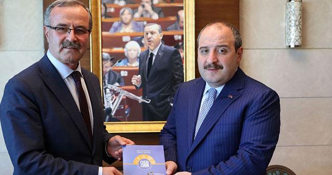Bakan Varank, OSBÜK Başkanı Kütükcü'yü kabul etti