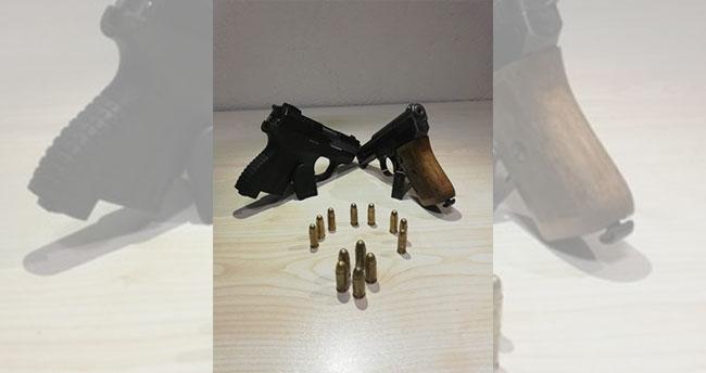 Karaman'da huzur uygulamasında iki tabanca ele geçirildi