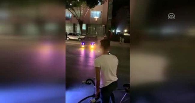Konya'da drift yapan sürücü cep telefonu kamerasına yakalandı