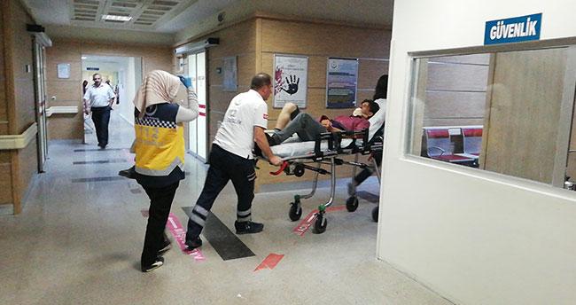 Karaman'da merdivenden düşen genç yaralandı