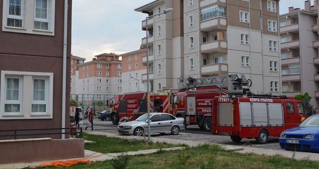 Konya'da 8 katlı binada yangın!