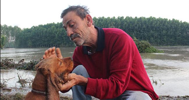 Selde Kaybolan Köpeği Yüzerek Geldi, Sevince Boğuldu