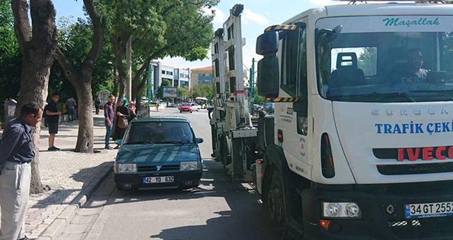 Konya'da drift yapan sürücüye 5 bin lira ceza verildi!