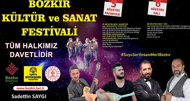 """Bozkır'da """"Kültür ve Sanat Festivali"""" düzenlenecek"""