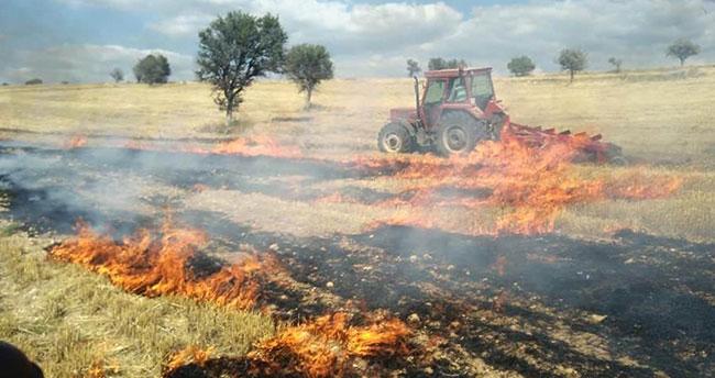 Dehşet! Konya'da tarlalar alev alev yandı