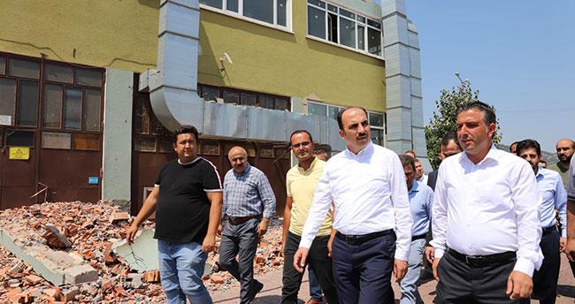 Konya Büyükşehir Belediye Başkanı Altay'dan yanan silah fabrikasında inceleme