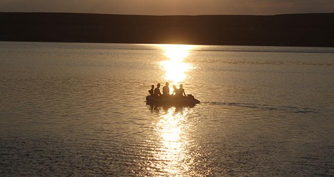 Konya'da 35 derecede yüzme keyfi