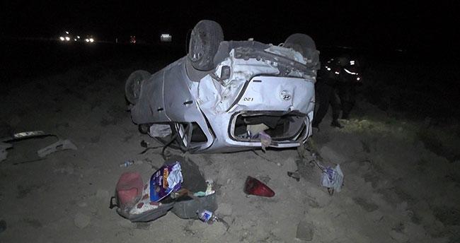 Konya'da otomobil tarlaya uçtu: Yaralı bebek hayatını kaybetti