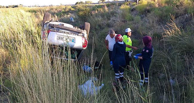 Aksaray'da otomobil şarampole devrildi: 1 ölü, 4 yaralı