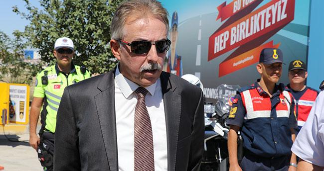 Konya Valisi Toprak trafik denetimlerine katıldı