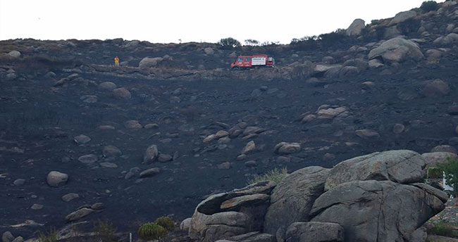 Marmara Adası'ndaki yangının boyutu ortaya çıktı