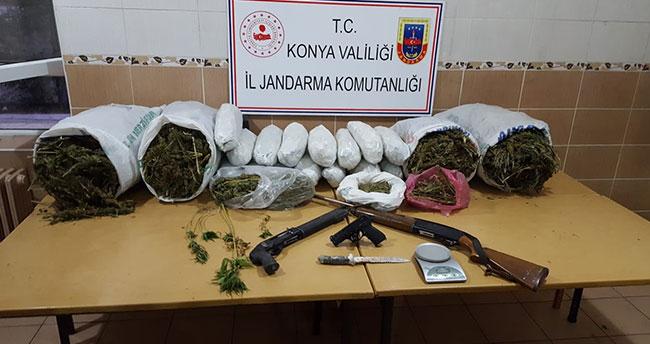 Konya'da uyuşturucu operasyonu: 2 gözaltı!