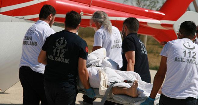 Konya Kulu'da elektrik akımına kapılan işçi ağır yaralandı