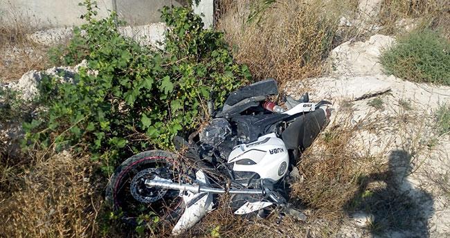 Aksaray'da devrilen motosikletin sürücüsü öldü