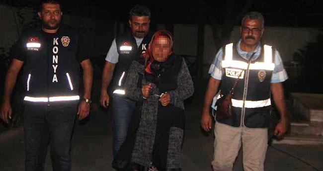 Konya'da tartıştığı eşini keserle öldüren kadın tutuklandı