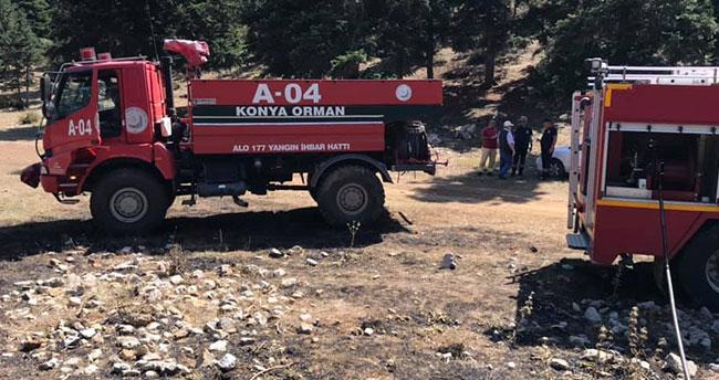 Konya'da orman yangını: 3 dekar alan kül oldu