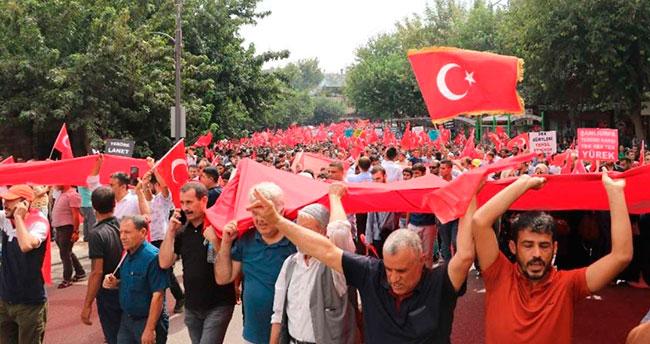 Doğu illerinde teröre tepki yürüyüşleri düzenlendi