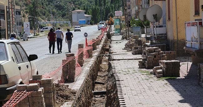 Hadim'de elektirik hattı yerin altına alınıyor