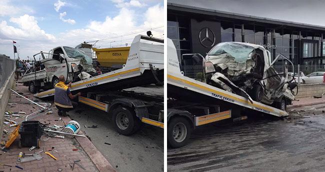 Konya'da çekiciyle kamyonet çarpıştı: 1 ölü, 2 yaralı