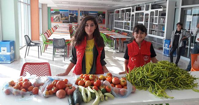Konya'da örnek proje! Bahçede yetişen sebzeler ücretsiz dağıtıldı