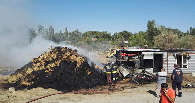 Konya'da bin saman balyası yandı