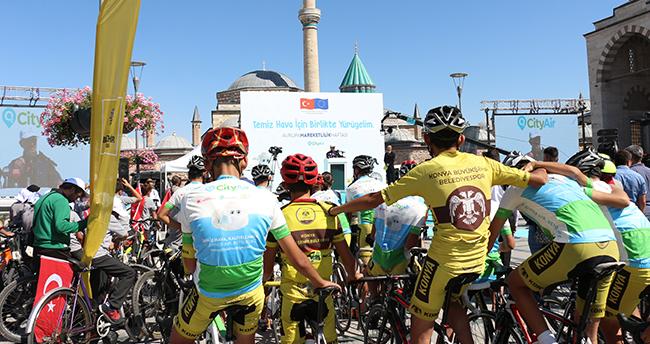 Konya'da 'Temiz Hava' temalı bisiklet etkinliği düzenlendi
