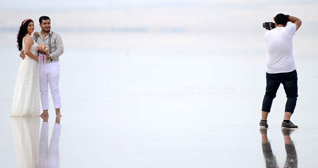 Tuz Gölü, düğün fotoğrafcılarının yeni gözdesi