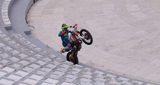 Konya'da Enduro motosiklet şovu