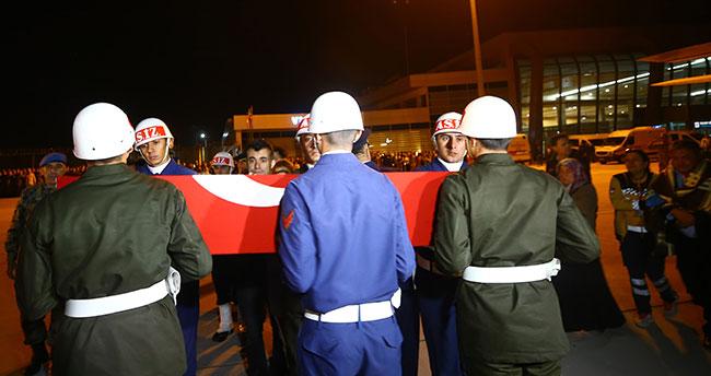 Şehit Fikret Dinçer'in cenazesi Konya'ya getirildi