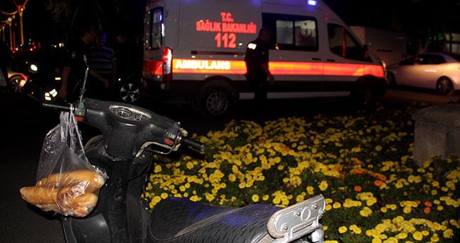 Evine ekmek götürürken otomobilin çarptığı motosiklet sürücüsü yaralandı