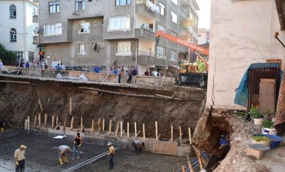 Ordu'da 5 katlı bina çökme tehlikesi yüzünden boşaltıldı