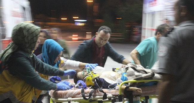 Konya'da motosiklet kazası aynı aileden 5 kişi yaralandı