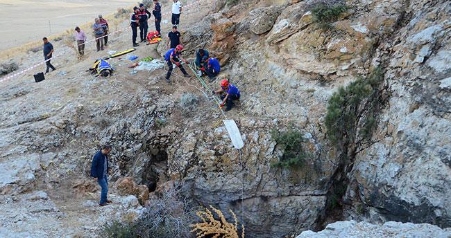 Karaman'da obruğa düşen kişi öldü