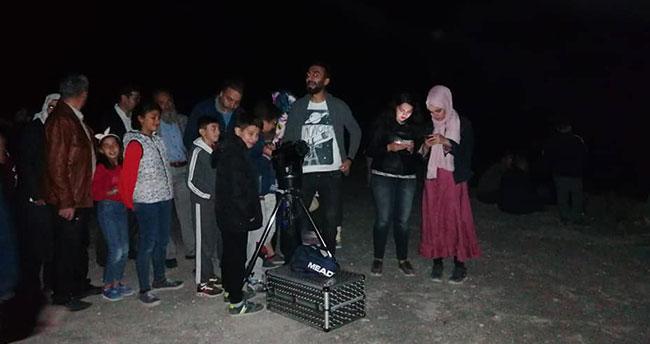 Konya'da öğrenciler gökyüzünü teleskopla izlediler