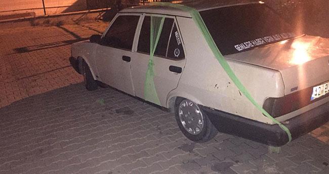 """Konya'da yaşandı! """"Gelin arabası"""" gibi süslenen araçtan uyuşturucu çıktı"""