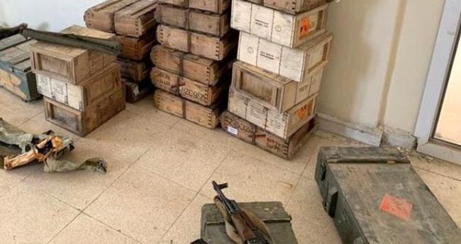 Teröristlerden temizlenen Tel Abyad'da çok sayıda mühimmat ele geçirildi