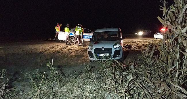 Karaman'da trafik kazası için rapor tutan sigortacıya otomobil çarptı