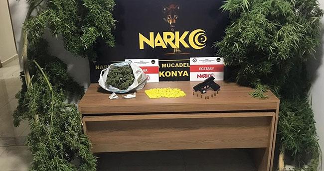 Konya'da uyuşturucu operasyonu: 9 gözaltı