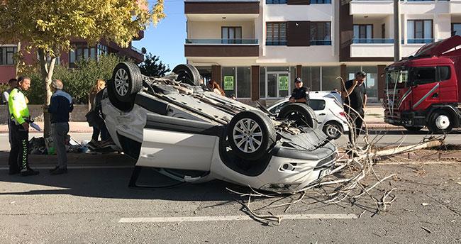 Konya'da düğün konvoyunda zincirleme kaza: 3 yaralı