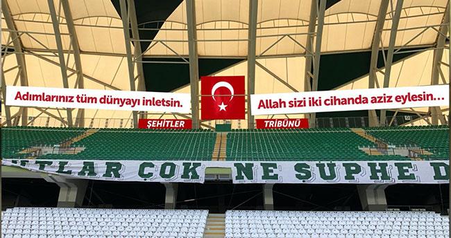 Konyaspor'dan alkışlanacak 'Şehitler Tribünü' kararı