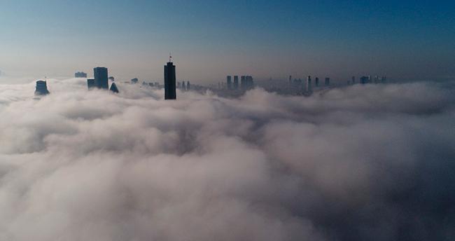 Sis altındaki İstanbul böyle görüntülendi