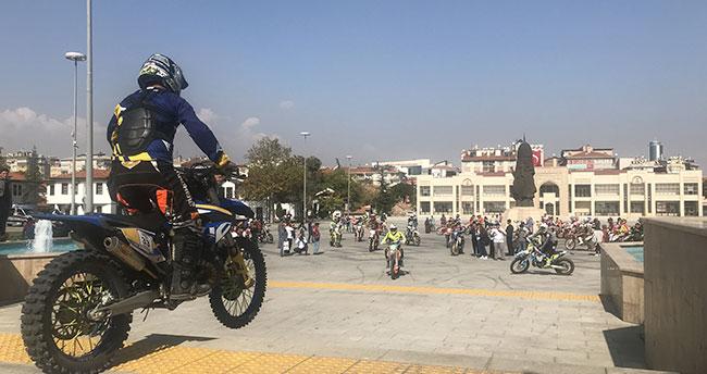 Konya Enduro Fest 2019 Yarışları yapılan gösteri ile devam etti
