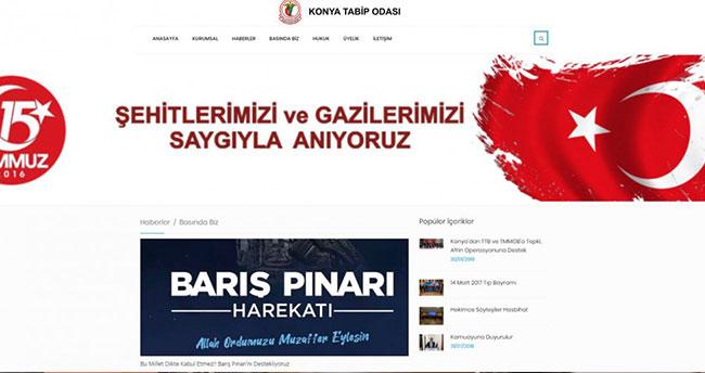 Konya Tabip Odası'ndan Mehmetçik'e tam destek