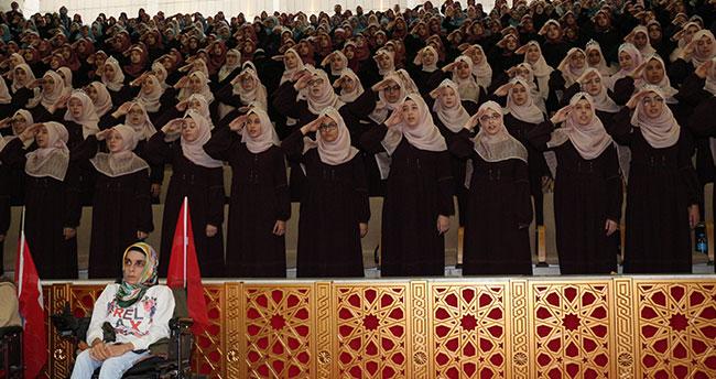 """Konya'da 254 kız öğrenci """"Hafızlık İcazet Belgesi"""" aldı"""